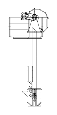Bucket Elevator - technical drawing